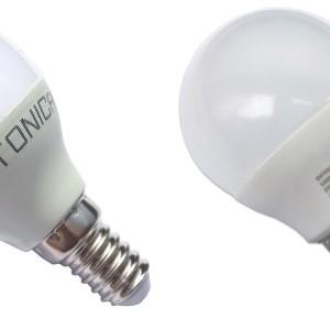 LAMPADINA LED 6W E14 G45 OPTONICA - SP1447. WHITE LIGHT – BIANCO FREDDO 6000K