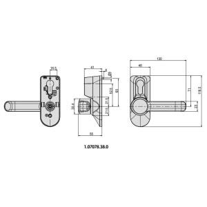 Art.070078.38.0 Cisa- Comando da esterno per maniglione antipanico (3)