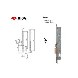 Cisa- Elettroserratura da infilare a cilindro ovale per montanti, sinistra (1)