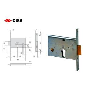 Cisa-SERRATURA DA INFILARE A CILINDRO, PER FASCE, H = 82 MM