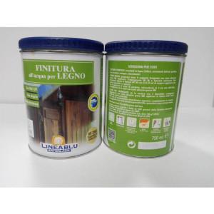 Finitura all'acqua per legno HF 2046 Trasparente Semilucida 750 ml