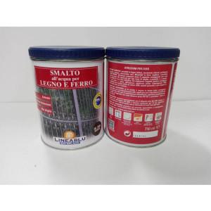 Smalto all'acqua per legno e ferro HL 2064 Marrone 750 ml. Linea Blu.