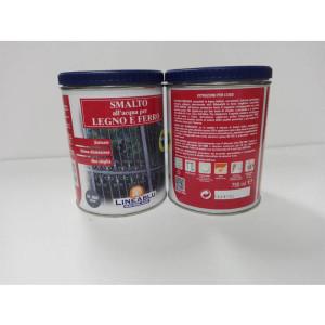 Smalto all'acqua per legno e ferro HL 2066 Grigio 750 ml. Linea Blu.
