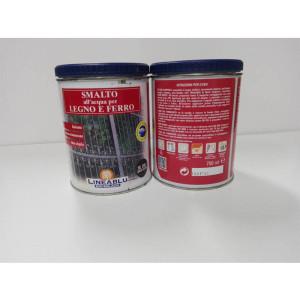 Smalto all'acqua per legno e ferro HL 2067 Grigio Scuro 750 ml