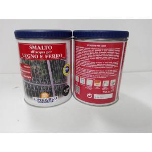 Smalto all'acqua per legno e ferro HL 2068 Verde 750 ml. Linea Blu.