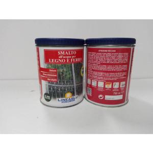 Smalto all'acqua per legno e ferro HL 2069 Verde Scuro 750 ml. Linea Blu.