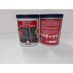 Smalto all'acqua per legno e ferro HL 2070 Nero 750 ml. Linea Blu.